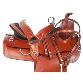 Medium Oil Extra Wide Western Pleasure Trail Saddle 15 18