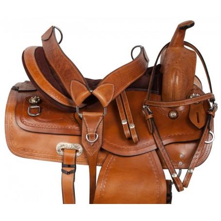 Classic Chestnut Comfy Western Pleasure Trail Saddle 15