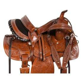 Beautiful Western Pleasure Barrel Horse Saddle 14 18