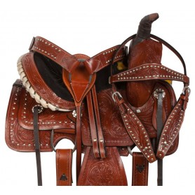 Youth Kids Western Leather Roping Pony Saddle Tack 10 12