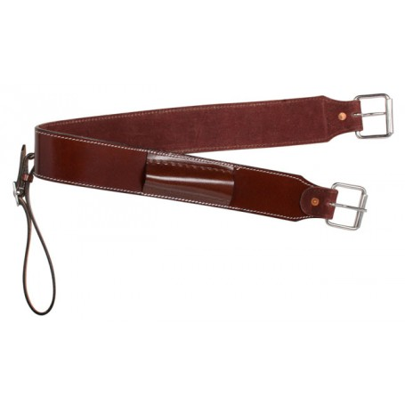Brown Western Saddle Rear Flank Cinch Bucking Strap