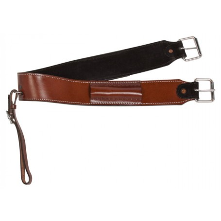 Cinnamon Brown Western Leather Back Cinch Flank Strap