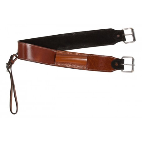 Medium Chestnut Western Leather Horse Saddle Back Cinch