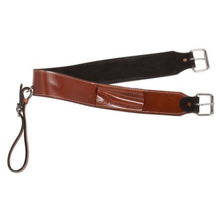 Western Leather Cowhide Rear Girth Bucking Strap Flank Cinch