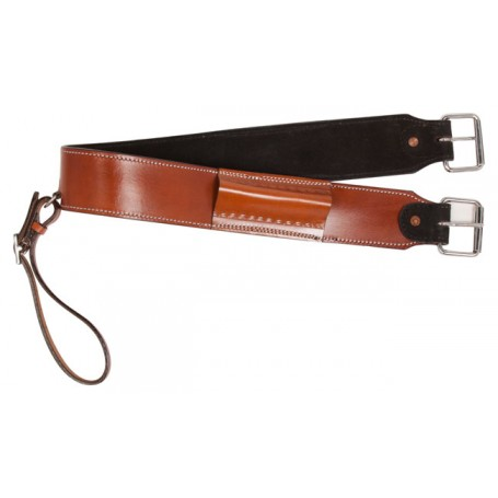 Buckskin Western Leather Rear Flank Bucking Strap Cinch