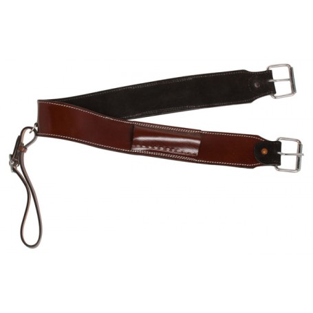 Brown Mahogany Western Leather Rear Girth Back Cinch