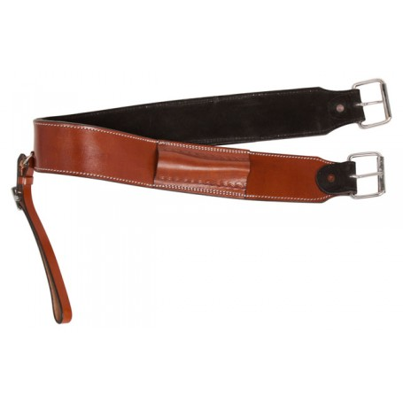New Smooth Leather Western Saddle Back Cinch Buckle