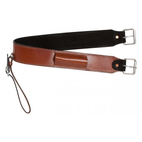 Cedar Chestnut Leather Western Saddle Back Cinch Bucking Strap