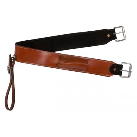 American Chestnut Leather Western Saddle Back Cinch Buckle