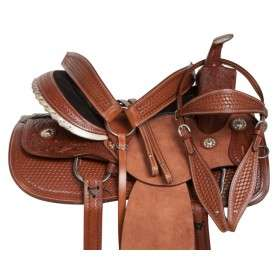 Western Ranch Work Pleasure Rough Out Horse Saddle 16 18