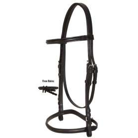 Black All Purpose English Eventing Leather Bridle Reins Set