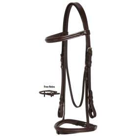English Pleasure Trail All Purpose Leather Bridle Reins Set