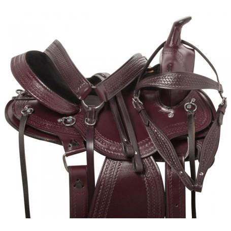 Western Pleasure Trail Endurance Horse Saddle Tack 15