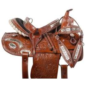 Cowgirl Barrel Racing Western Trail Horse Saddle Tack 14