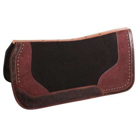 Western Wool Felt Antique Leather Non Slip Horse Saddle Pad