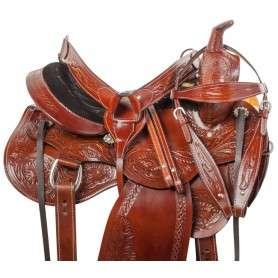 Premium Hand Carved Western Pleasure Horse Saddle Tack