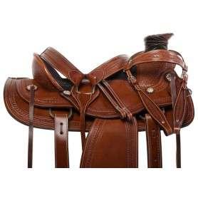 Premium Western Wade Tree Roper Horse Saddle Tack 16 18