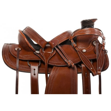 Premium Western Wade Tree Roper Horse Saddle Tack 15