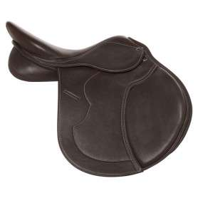 Dark Brown Eventing English Jumping Horse Saddle 16""