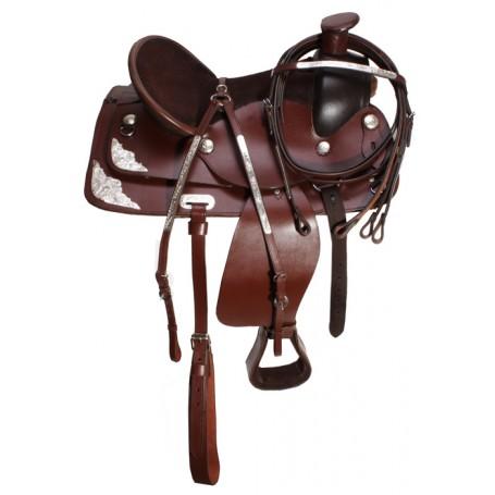Dark Brown Trail or Work Saddle With Tack Set 16