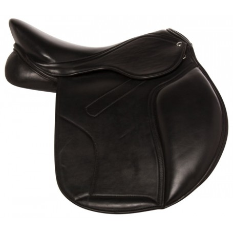 "16.5"" Black English Leather Premium Horse Jumping Saddle"