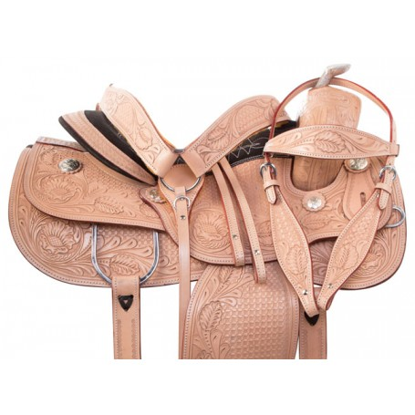 Premium Tooled Western Pleasure Show Horse Saddle 16