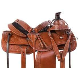 Chestnut Western Ranch Roping Trail Horse Saddle 15 16