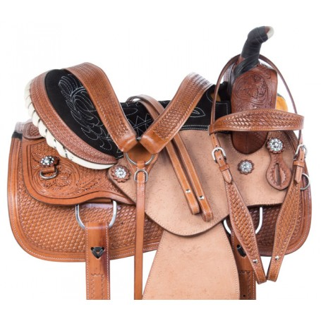 Rough Out Ranch Roping Western Leather Horse Saddle Tack 15