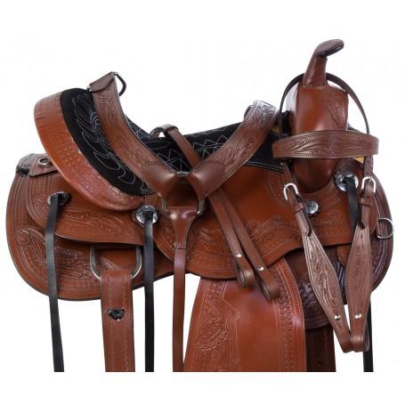 Comfy Western Pleasure Trail Endurance Horse Saddle Tack 15 16