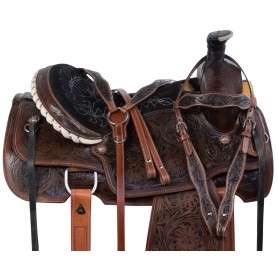 Antique Team Roping Western Ranch Work Horse Saddle Tack Set