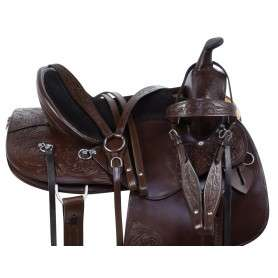 Contoured Western Pleasure Trail Endurance Horse Saddle Tack Set