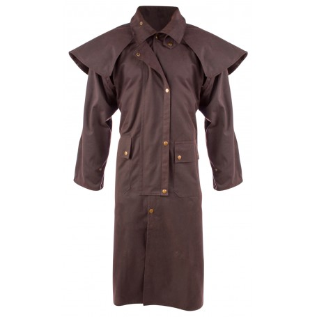 Brown Full Length Mens Womens Australian Duster Coat