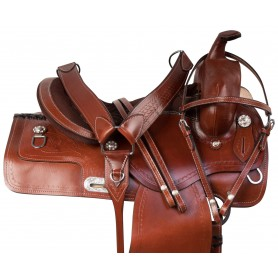 Comfy Classic Western Ranch Pleasure Trail Leather Horse Saddle Tack