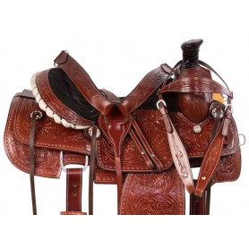 Premium Western Roping Ranch Work Leather Horse Saddle Tack Set