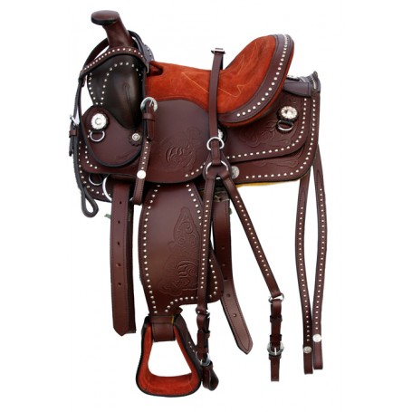 New 10 Brown Youth Kids Pony Show Western Saddle & tack