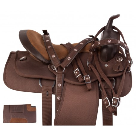 Texas Star Light Weight Brown Synthetic Western Pleasure Horse Saddle Tack