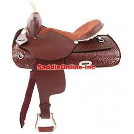 Brand new 16 RAW HIDE DECORATED western saddle