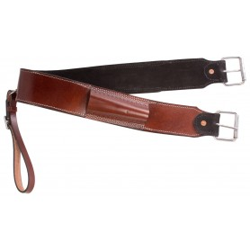 Brown Leather Western Bucking Strap Rear Girth Back Cinch