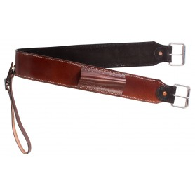 Western Mahogany Rear Flank Smooth Leather Back Cinch