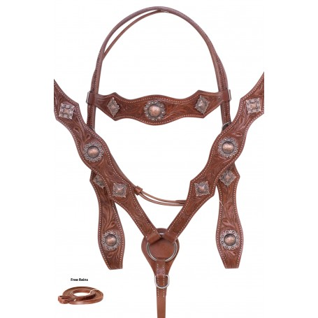 Hand Carved Western Leather Pleasure Trail Horse Tack Set
