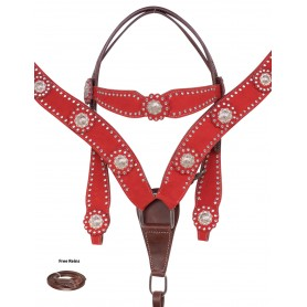 Crystal Show Western Barrel Racing Rodeo Leather Horse Tack Set