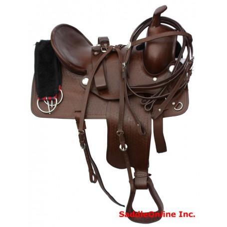 New 16 17 Hard Seat Ranch Work Saddle Bowman
