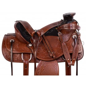 Comfy Wade Tree Roping Western Ranching Leather Tooled Horse Saddle Tack