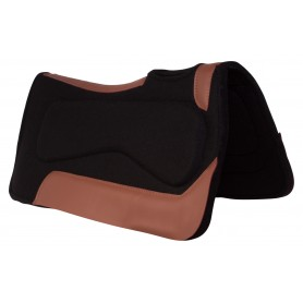 Black Corrective Wool Felt Pleasure Trail Therapeutic Western Horse Saddle Pad