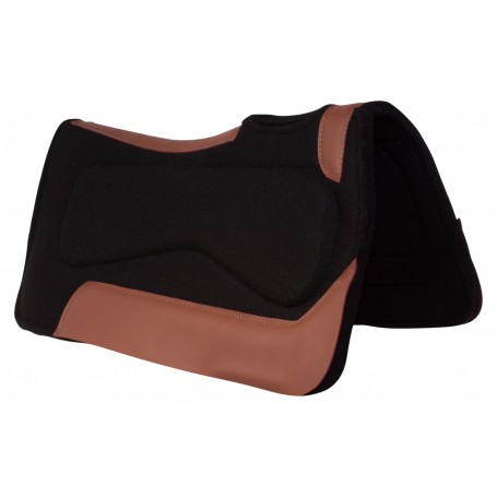 Black Corrective Wool Felt Pleasure Trail Therapeutic Western Horse Saddle Pad