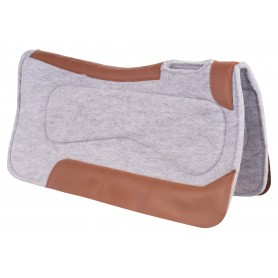 Western Grey Felt Therapeutic Flexible Corrective Ranch Trail Horse Saddle Pad