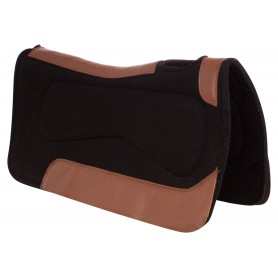 Black Corrective Western Felt Ranching Trail Therapeutic Horse Saddle Pad