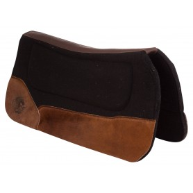 Corrective Black Hair On Hide Western Felt Roping Ranch Horse Saddle Pad
