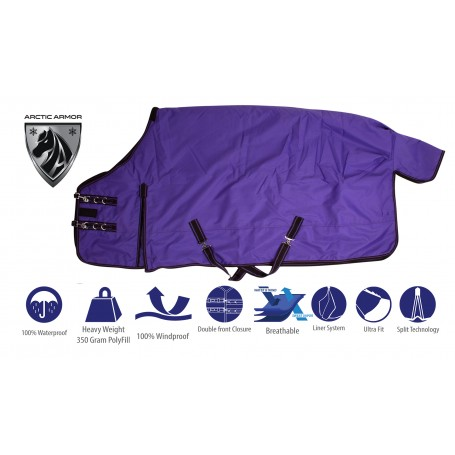 Purple Waterproof 1200 Denier Heavy Duty Turnout Winter Horse Blanket