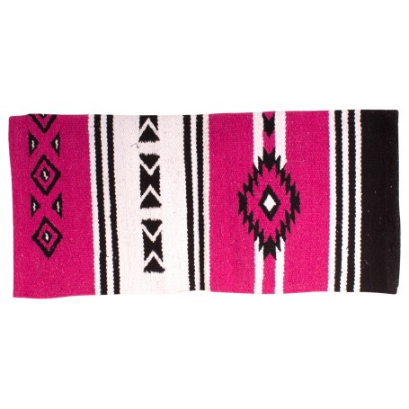 Pink Aztec New Zealand Wool Western Saddle Show Blanket